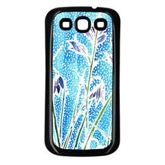 Art Batik Flowers Pattern Samsung Galaxy S3 Back Case (black)