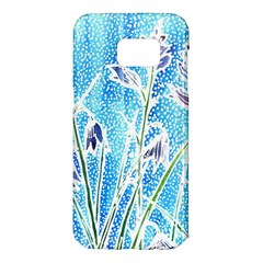 Art Batik Flowers Pattern Samsung Galaxy S7 Edge Hardshell Case