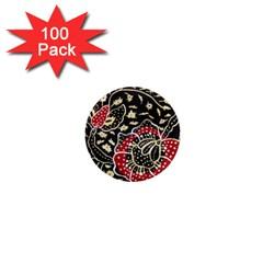 Art Batik Pattern 1  Mini Magnets (100 Pack)