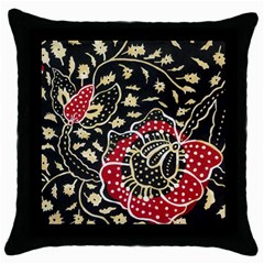 Art Batik Pattern Throw Pillow Case (black)