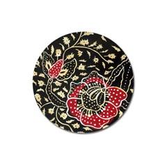 Art Batik Pattern Magnet 3  (round)