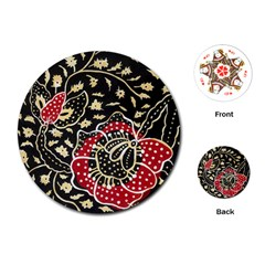 Art Batik Pattern Playing Cards (round)