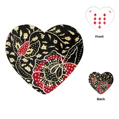 Art Batik Pattern Playing Cards (heart)