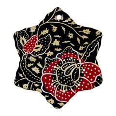 Art Batik Pattern Ornament (snowflake)