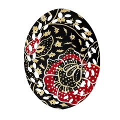 Art Batik Pattern Ornament (oval Filigree)