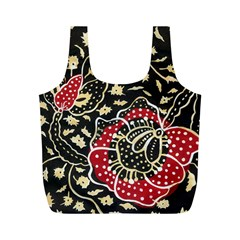 Art Batik Pattern Full Print Recycle Bags (m)