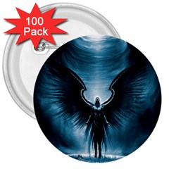 Rising Angel Fantasy 3  Buttons (100 Pack)