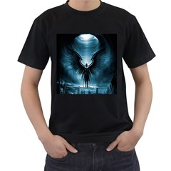 Rising Angel Fantasy Men s T Shirt (black) (two Sided)