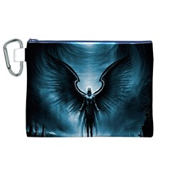 Rising Angel Fantasy Canvas Cosmetic Bag (xl)