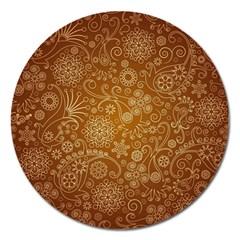 Batik Art Pattern Magnet 5  (round)