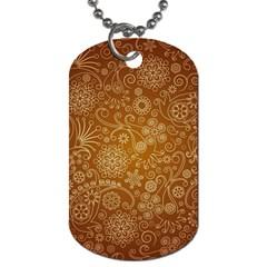 Batik Art Pattern Dog Tag (two Sides)