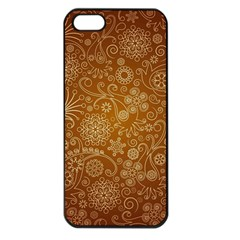 Batik Art Pattern Apple Iphone 5 Seamless Case (black)