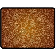 Batik Art Pattern Double Sided Fleece Blanket (large)