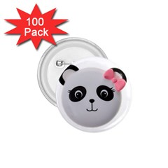 Pretty Cute Panda 1 75  Buttons (100 Pack)