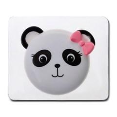 Pretty Cute Panda Large Mousepads