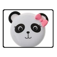 Pretty Cute Panda Fleece Blanket (small)