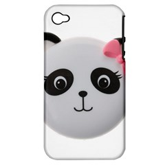 Pretty Cute Panda Apple Iphone 4/4s Hardshell Case (pc+silicone)