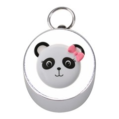 Pretty Cute Panda Mini Silver Compasses