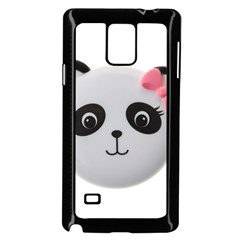 Pretty Cute Panda Samsung Galaxy Note 4 Case (black)
