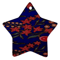 Batik  Fabric Ornament (star)