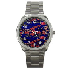 Batik  Fabric Sport Metal Watch