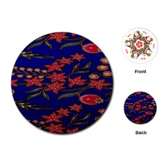 Batik  Fabric Playing Cards (round)