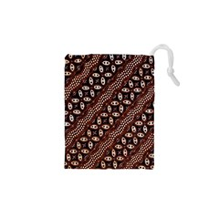 Art Traditional Batik Pattern Drawstring Pouches (xs)
