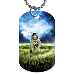 Astronaut Dog Tag (one Side)
