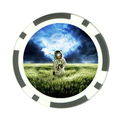 Astronaut Poker Chip Card Guard
