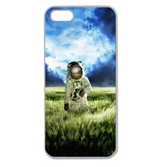 Astronaut Apple Seamless Iphone 5 Case (clear)