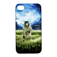 Astronaut Apple Iphone 4/4s Hardshell Case With Stand