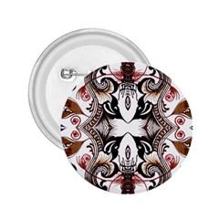 Art Traditional Batik Flower Pattern 2 25  Buttons