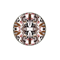 Art Traditional Batik Flower Pattern Hat Clip Ball Marker
