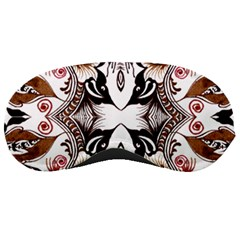 Art Traditional Batik Flower Pattern Sleeping Masks