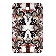 Art Traditional Batik Flower Pattern Samsung Galaxy Tab 3 (7 ) P3200 Hardshell Case