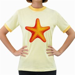 Starfish Women s Fitted Ringer T Shirts