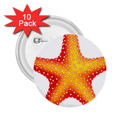 Starfish 2 25  Buttons (10 Pack)