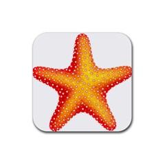 Starfish Rubber Coaster (square)