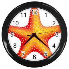Starfish Wall Clocks (black)