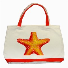 Starfish Classic Tote Bag (red)