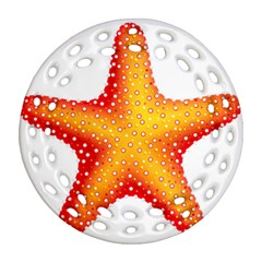 Starfish Round Filigree Ornament (two Sides)