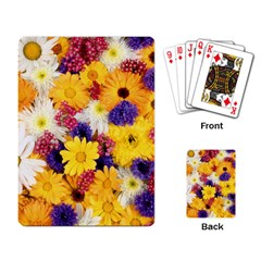 Colorful Flowers Pattern Playing Card