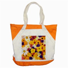 Colorful Flowers Pattern Accent Tote Bag