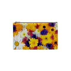 Colorful Flowers Pattern Cosmetic Bag (small)