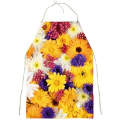 Colorful Flowers Pattern Full Print Aprons