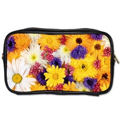 Colorful Flowers Pattern Toiletries Bags 2 Side