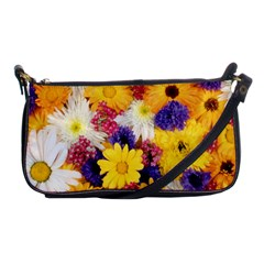 Colorful Flowers Pattern Shoulder Clutch Bags