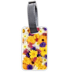 Colorful Flowers Pattern Luggage Tags (one Side)