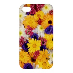 Colorful Flowers Pattern Apple Iphone 4/4s Hardshell Case