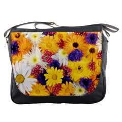 Colorful Flowers Pattern Messenger Bags